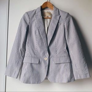 Banana Republic striped nautical blazer